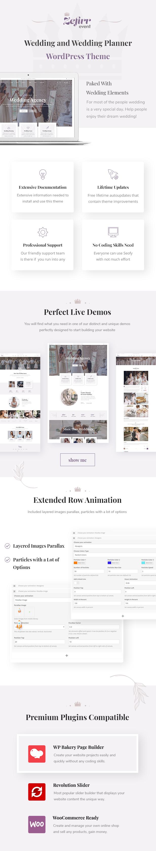 Zefirr - Event & Wedding Agency WP Theme - 1